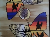 The Pair of Butterflies, Indigenous Painting, Acrylic on Canvas