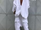 White Shirt and Harem Pants / Paradox / Short Sleeves Top / Long