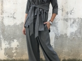 Winter Women Suit / Paradox / Palazzo Pants / Wool Blouse / Asym