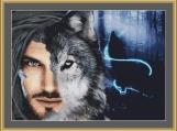Wolf Man Cross Stitch Pattern