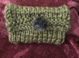 Womens Knitted Mini Wallet - Green