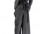 Wool Women Suit / Paradox / Palazzo Pants / Wool Blouse / Asymme