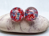 4th of July earrings,american flag earrings,patriotic earrings,patriotic studs,red white blue jewelry,proud to be american,real flower gift