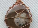 Amanite and Copper Pendant