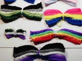 Crochet LGBT+ Hair bows Different sizes!