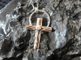 Cross #9 - Fine Silver and Copper