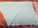 Crotchet Mint Green Sparkle Baby Blanket