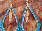 Transparent turquoise beads
