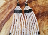 White with Black Earrings