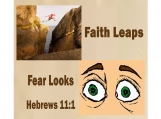 11 x 14 Printable, Faith Leaps - Fear Looks, Hebrews 11:1