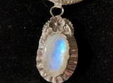 Moonstone Necklace with Fine and Sterling Silver