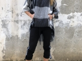 New Asymmetric Plaid Tunic / Paradox / Loose Top / Women's Blous
