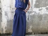 New Blue Summer Set / Paradox / Blue Blouse / Slit Skirt / Open