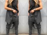 New Women Loose Top / Paradox / Sleeveless Tunic Top / Grey Long