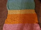 Rainbow loop yarn blanket
