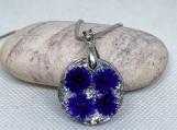 Real flower necklace,Terrarium necklace,Flower necklace,Real plant jewelry,Plant necklace,Flower terrarium,Botanical jewelry,Red flower gift