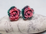 Red rose dangles,red rose earrings, pink rose earrings, white rose earrings, floral rose jewlery, nature insparation gift