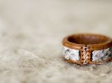 Salmon fish leather ring for thumb, Handmade viking jewelry