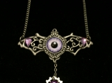 Steampunk Batwings Necklace (purple)