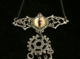 Steampunk Batwings Necklace (Yellow/Purple+keys)