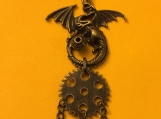 Steampunk Dragon Necklace with keys