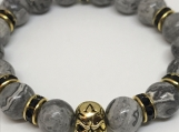 Tibetan Skull bracelet GRAY