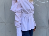 White Shirt / Paradox / Cold Shoulder Blouse / Black Shirt / Whi