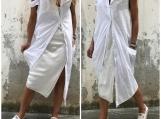White Summer Dress / Paradox / Asymmetric Dress / Extravagant Dr
