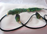 HIPPIE SUEDE STUDDED PEACOCK FEATHER  HEADBANDS