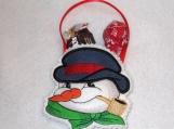 Snowman favor bag