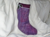 Wildly Purple Stained Glass Christmas Stocking