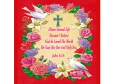 5 x 7 God So Loved World Scripture Card, John 3:16 , Personalize