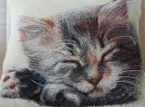 Cat Fast Asleep Tapestry Cushion Cover - Free Shipping