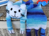 Child's Blue Random Knitted Cat Scarf - Free Shipping