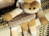 Child's Knitted Brown Shaded Monkey Scarf - Free Shipping
