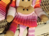 Child's Knitted Multicoloured Monkey Scarf - Free Shipping
