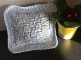 Crochet Blue Lavender filled pillow
