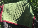 Crochet Irish Cable baby blanket