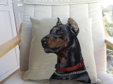 Doberman Pinscher Tapestry Cushion Cover - Free Shipping