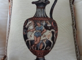 Greek Urn Tapestry Cushion Cover - Free Shipping