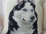 Husky Dog Tapestry Cushion Cover - Free Shipping