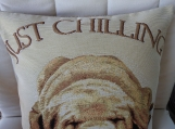 Just Chilling Dog Tapestry Cushion Cover - Free Shipping