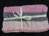 Knitted Patterned Baby Blanket - Free Shipping