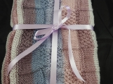 Knitted Soft Striped Baby Blanket - Free Shipping
