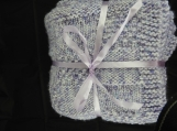 Knitted Thick Lilac Patterned Baby Blanket - Free Shipping