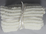 Knitted White Pom Pom Baby Blanket - Free Shipping