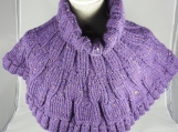 Knitted Women's Purple Caplet - Free Shipping