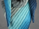 Knitted Women's Triangular Wrap Around Shawl - Free Shipping