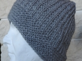 Men' Light Grey Knitted Beanie Hat - Free Shipping