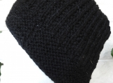 Men's Knitted Black Beanie Hat - Free Shipping